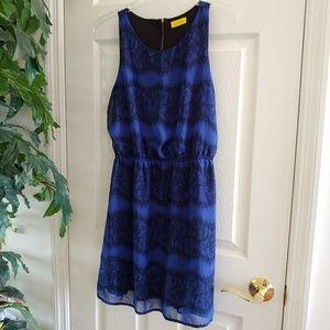 Dee Elle Black & Blue Lace Dress